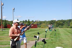 guys shooting at the gun range near quarterdeck resort