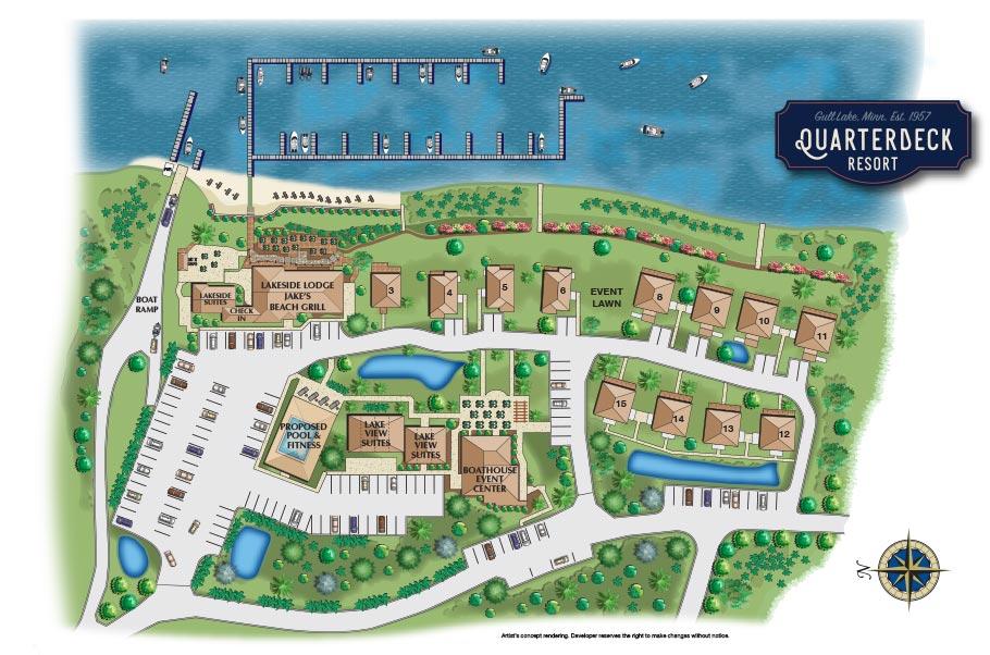quarterdeck resort map