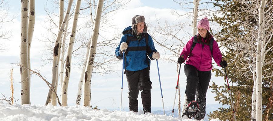 Cross country skiing Brainerd Lakes Quarterdeck Resort Nisswa MN