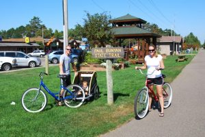 Bike Riding on the Paul Bunyan State Trail