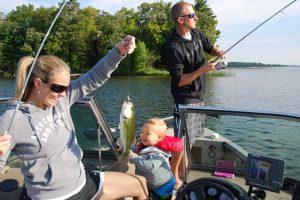 Fishing on Gull Lake