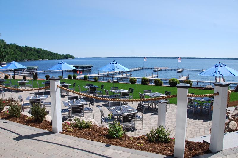 the dock bar and grill restaurant on gull lake mn quarterdeck resort