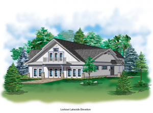 Rendering for New Lakeside Cottage Rental
